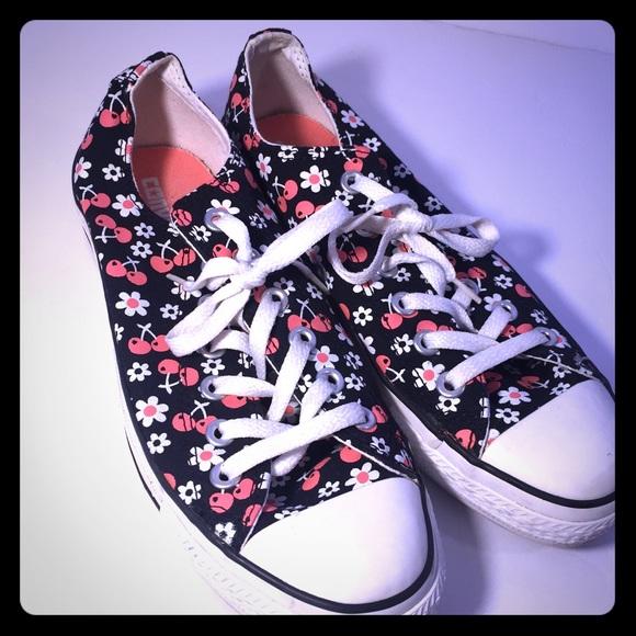 c58e24d8a7bd Converse Shoes - ⚡️ALL SHOES BOGO⚡ floral cherry pattern converse
